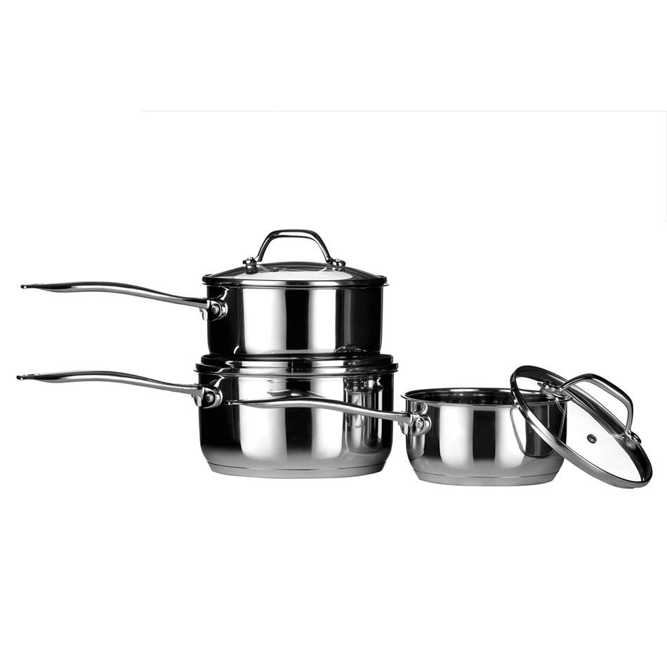 Tenzo 3 Piece Saucepan Set