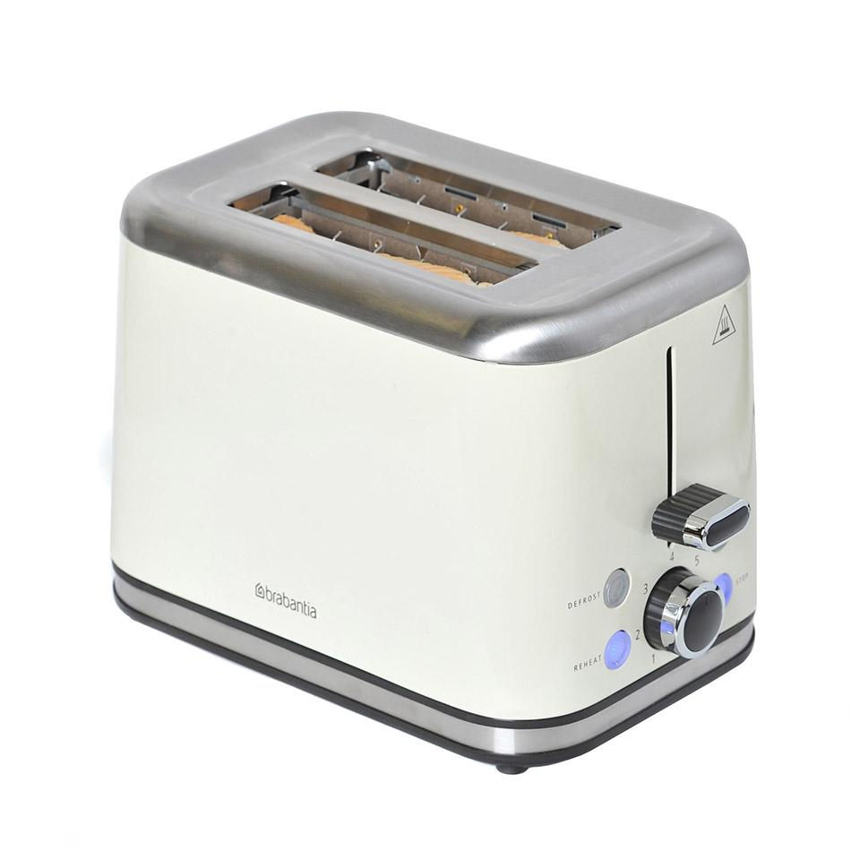 Brabantia 2 Slice Toaster - Stainless Steel