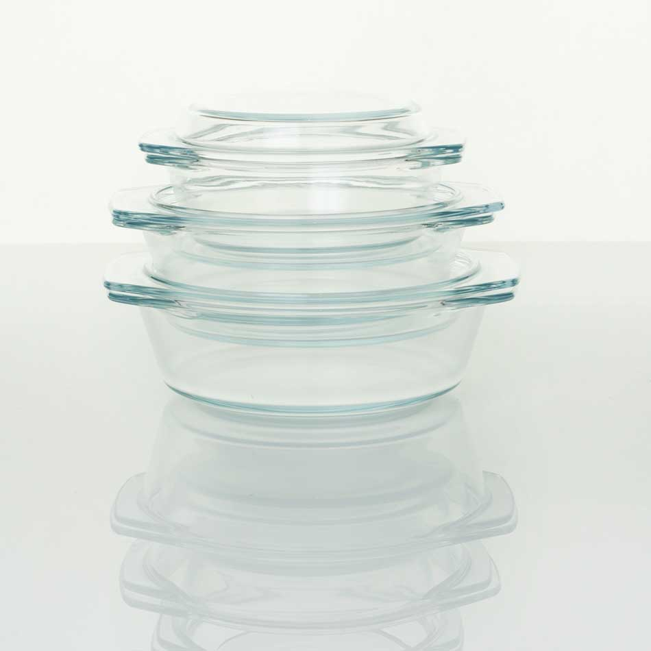Glass Casserole Set - 3 dishes