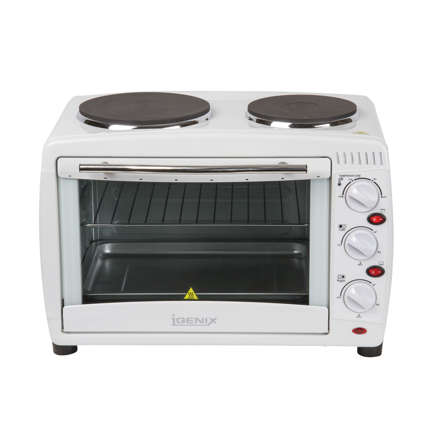 Mini Oven with 2 Hotplates 45 Ltr