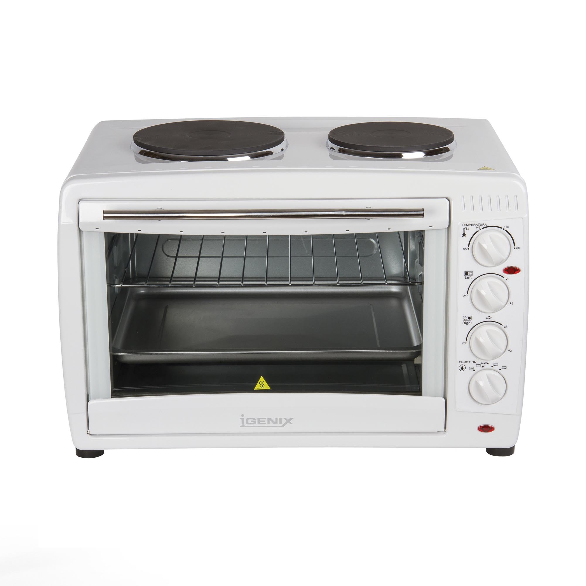 Mini Oven with 2 Hotplates 26 Ltr
