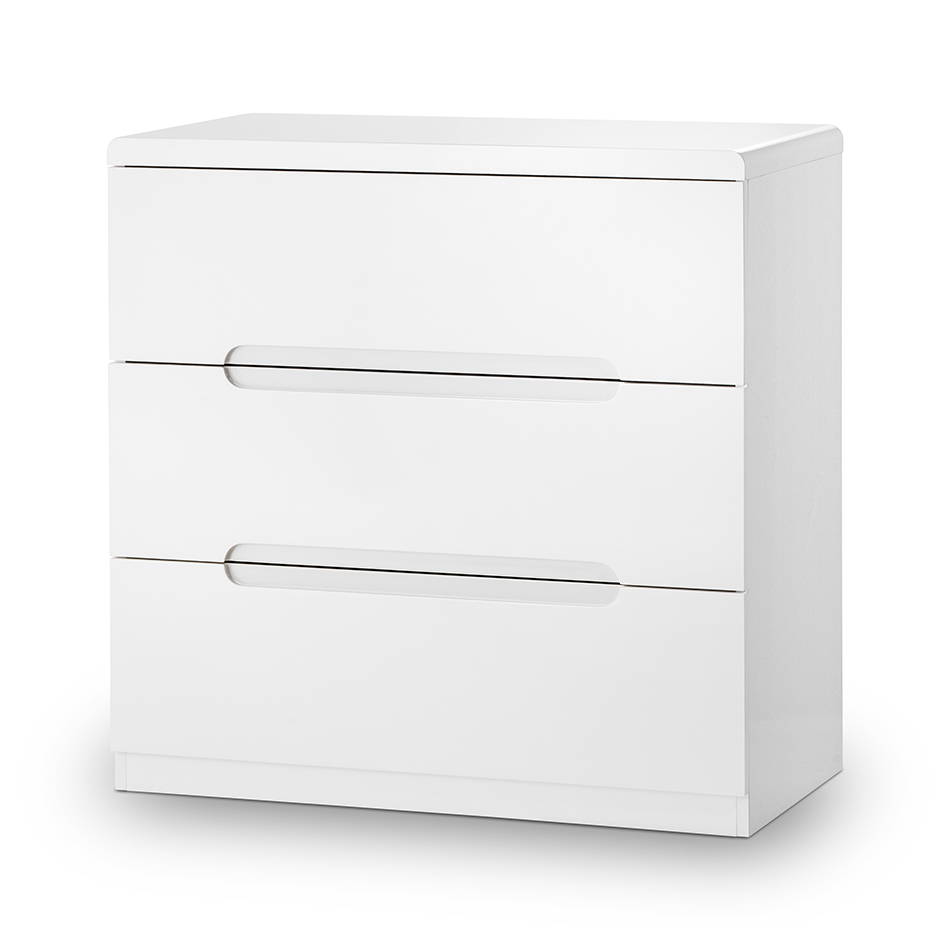 Mia High Gloss 3 Drawer Chest