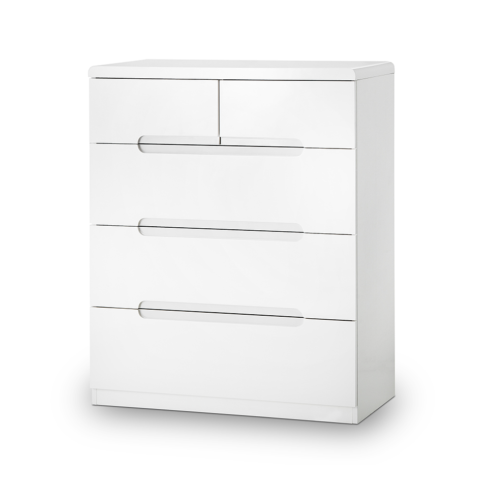 Mia High Gloss 3+2 Drawer Chest