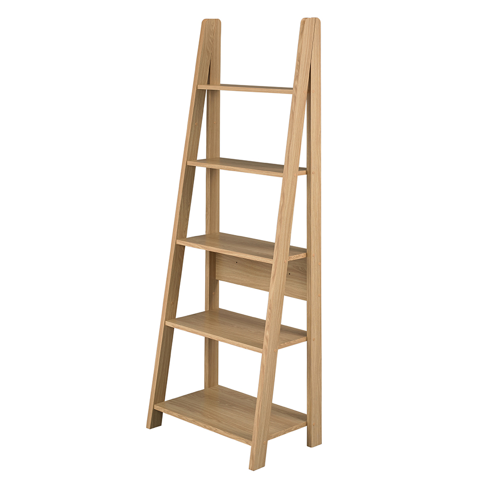 Ladder bookcase oak