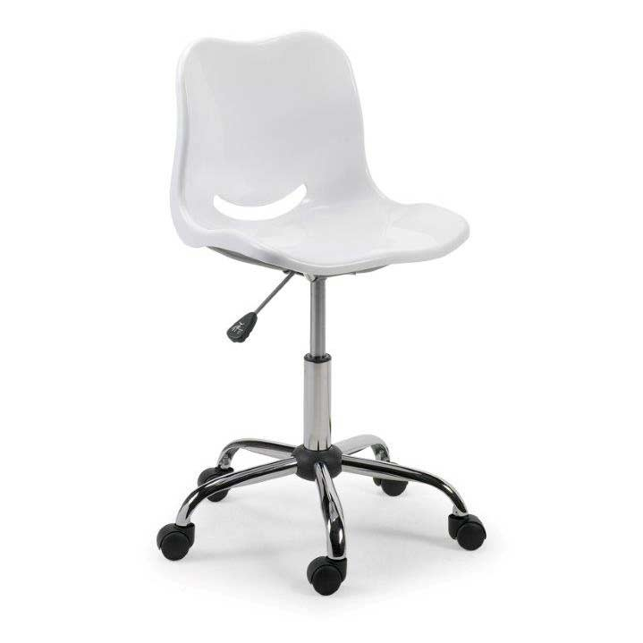White Swivel Office Chair