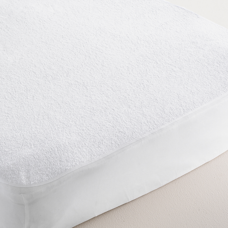 Waterproof Terry Cotton Mattress Protector - Double