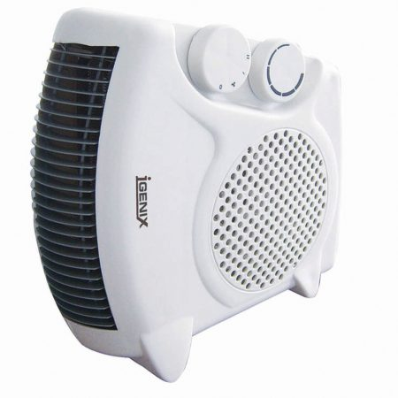 Igenix 2kW Flat Upright Fan Heater White